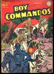 BOY COMMANDOS #6-SIMON & KIRBY CVR/STORY VG