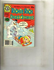 Lot of 9 Richie Rich Digest Stories #2 3 4 5 6 6 7 11 12 WS15