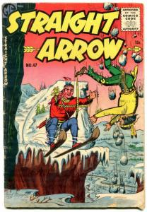 STRAIGHT ARROW #47-1955-ME-RED HAWK-INDIANS-FRED MEAGHER-good