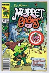 Muppet Babies #20 ORIGINAL Vintage 1988 Marvel Comics Kermit Hood