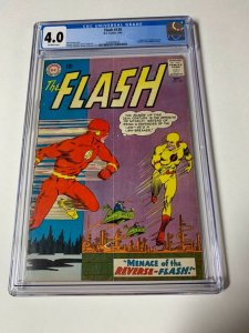 Flash 139 Cgc 4.0 1st Reverse Flash Professor Zoom Dc Silver Age