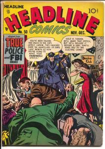 Headline #50 1951-gang wars-violence-strangulation-murder-VG