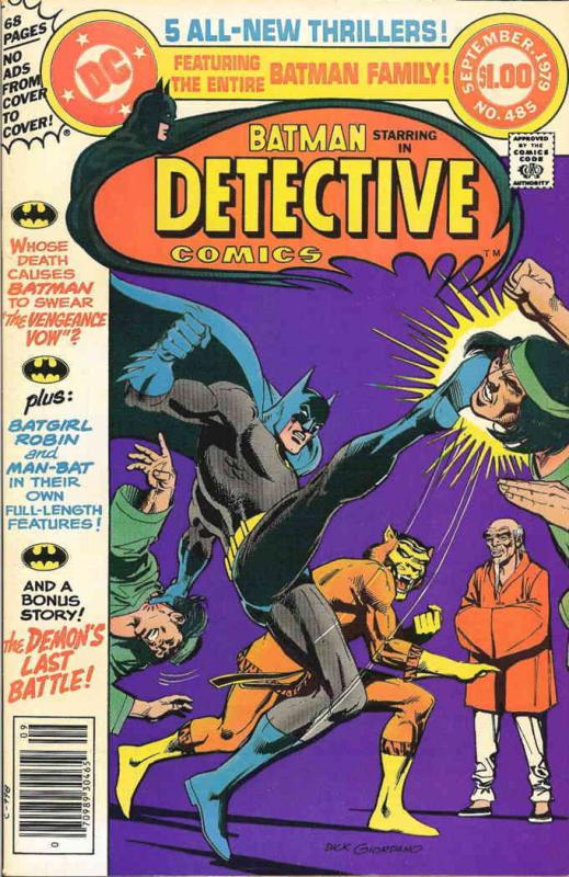 Detective Comics #485 FN DC - save on shipping - details inside