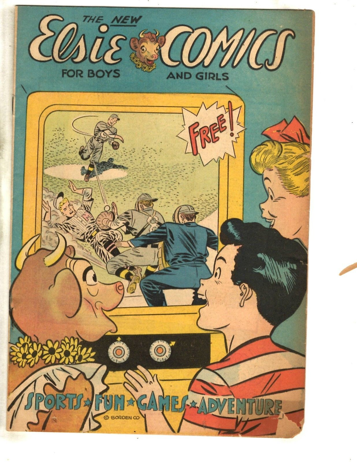 Elsie Comics For Boys /& Girls Free Giveaway Promo Comic Book Borden Sports JL17