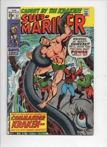 SUB-MARINER #27, FN+, Buscema, Kraken, 1968 1970, more in store