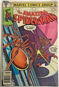 AMAZING SPIDER-MAN#213 VG/FN 1981 MARVEL BRONZE AGE COMICS