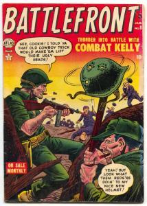 Battlefront #8 1953- COMBAT KELLY- Atlas War comic VG/F