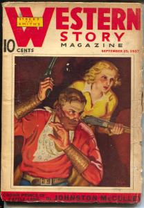 Western Stories 9/25/1937-Crown Prince of Cattle Land-Johnston McCulley-pulp-G