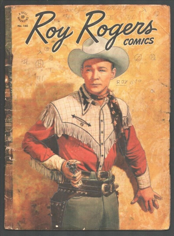 -Roy Rogers-Four Color Comics- #160-1947-Dell-Photo cover-Writing & pencil ma...