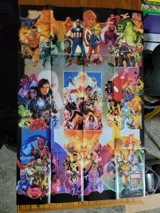 LARGE 36 x 24 80 YEARS OF MARVEL COMICS Promo Poster