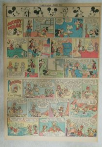 Mickey Mouse Sunday Page by Walt Disney from 6/10/1945 Tabloid Page Size