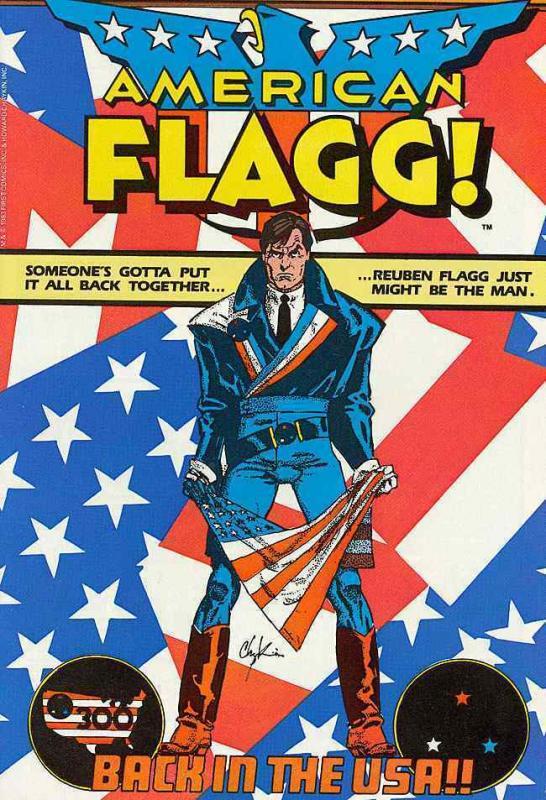 AMERICAN FLAGG 1-50,SP 1 classic Chaykin Indie series