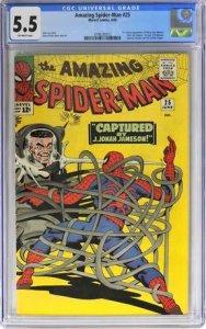 Amazing Spider-Man #25 (Marvel, 1965) CGC Graded 5.5