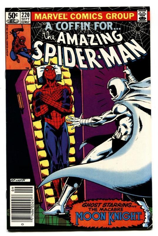 AMAZING SPIDER-MAN #220 comic book MOON KNIGHT Bob Layton cover Marvel