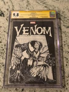 VENOM #1 CGC 9.8 SIGNED 3X Lovato McFarlane Michelinie ORIGINAL SKETCH COVER ART