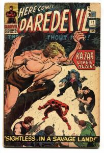 DAREDEVIL #12 comic book 1966 MARVEL COMICS-ROMITA- KA-ZAR ISSUE