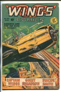 WINGS #103 -FICTION HOUSE-1949-CAPT WINGS-AIR WAR STORIES-GHOST SQUADRON-vg