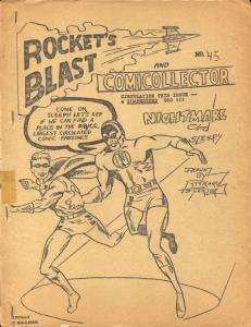 Rocket's Blast  & Comicollector #45 1966-Phil Seuling-Rogofsky-Jerry Bails-VG