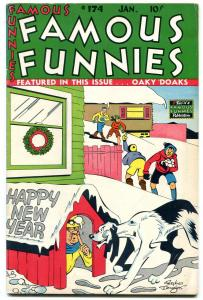 Famous Funnies #174 1949- New Year cover- Buck Rogers FN