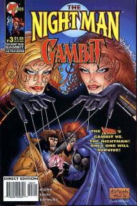 Night Man/Gambit, The #3 VF/NM; Malibu   save on shipping - details inside