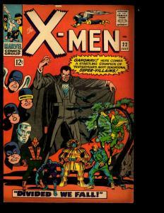 (Uncanny) X-Men 22 FN- Marvel Comic Book Cyclops Beast Angel Iceman NE3