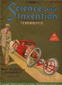 SCIENCE AND INVENTION 08/1926-GERNSBACK-CUMMINGS-GOLD TONE COVER-PULP-SCI-FI-vf