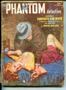 THE PHANTOM DETECTIVE-FALL 1952-ELUSIVE HERO PULP-STRANGULATION COVER-fr