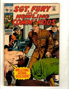 Sgt. Fury & His Howling Commandos # 68 VG Marvel Comic Book Nick Avengers GK5
