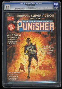 Marvel Super Action Magazine (1976) #1 CGC VG 4.0 Early Punisher Appearance!