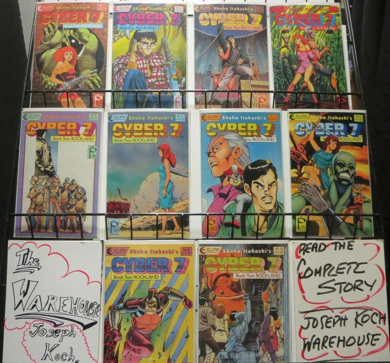 CYBER 7 BOOK TWO 1-10 by SHUHO ITAHASHI  complete story