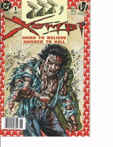 Lot Of 2 DC Comic Books Xomib Hard to Believe Harder to Kill #1 and #0 ON2
