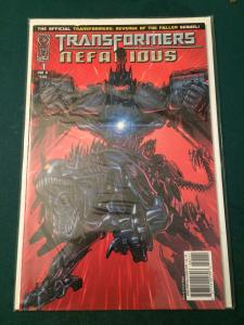 Transformers Nefarious #1 Revenge of the Fallen Sequel cover B