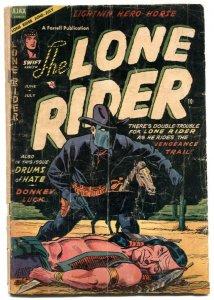 Lone Rider #20 1954- Western Golden Age comic G