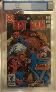 Batman #365 CGC 9.6 Don Newton & Alfredo Alcala art  White Pages
