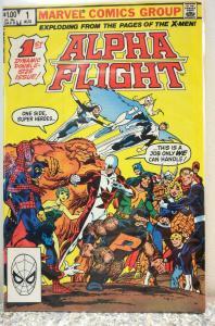 Alpha Flight #1 1983, Marvel Comics grade 7.0 fine condition