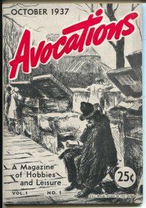 Avocations #1 10/1937-Magazine of Hobbies & Leisure-stamps-paperweights-FN/VF