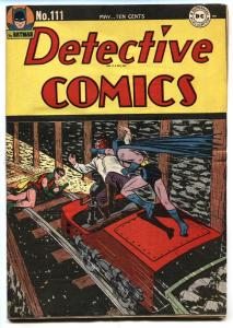 Detective #111 1946-DC-Batman-Robin cover-Golden-Age