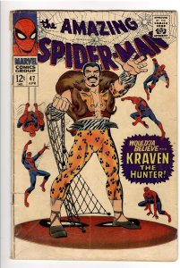 AMAZING SPIDERMAN 47 VG 4.0 CLASSIC KRAVEN COVER! GWEN STACEY, GREEN GOBLIN !