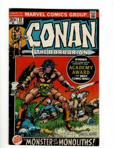 Conan The Barbarian # 21 FN Marvel Comic Book Barry Smith Kull King Sword NP16