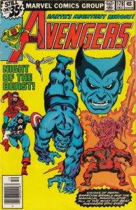 THE AVENGERS  #178  FN/VG/ THE BEAST APP.  MARVEL COMICS