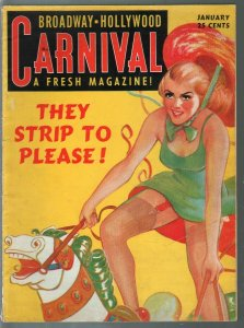 Broadway-Hollywood Carnival #3 1/1940-pin-up gilel merry-go 0round0spicy pix-VF-