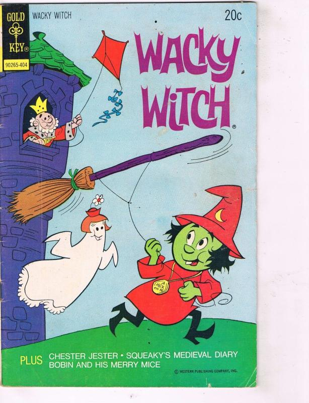 Lot of 2 Wacky Witch Gold Key Comic Books # 404 407 Super Heroes AD39