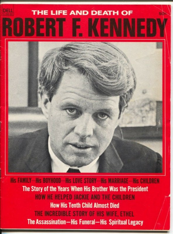 Life And Death Of Robert F. Kennedy 1968-Life Story of RFK-pix-interviews-VG