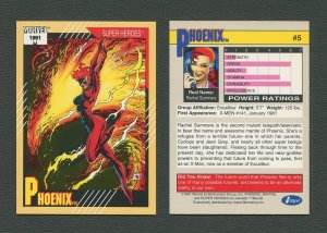 1991 Marvel Comics II  Card  #5 ( Phoenix )  MINT