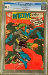 Detective Comics #372 (1968) CGC 8.0 -- Neal Adams cover & Broome/Fox stories