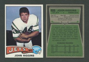 1975 Topps Football /  John Riggins #313 /  NM-MT