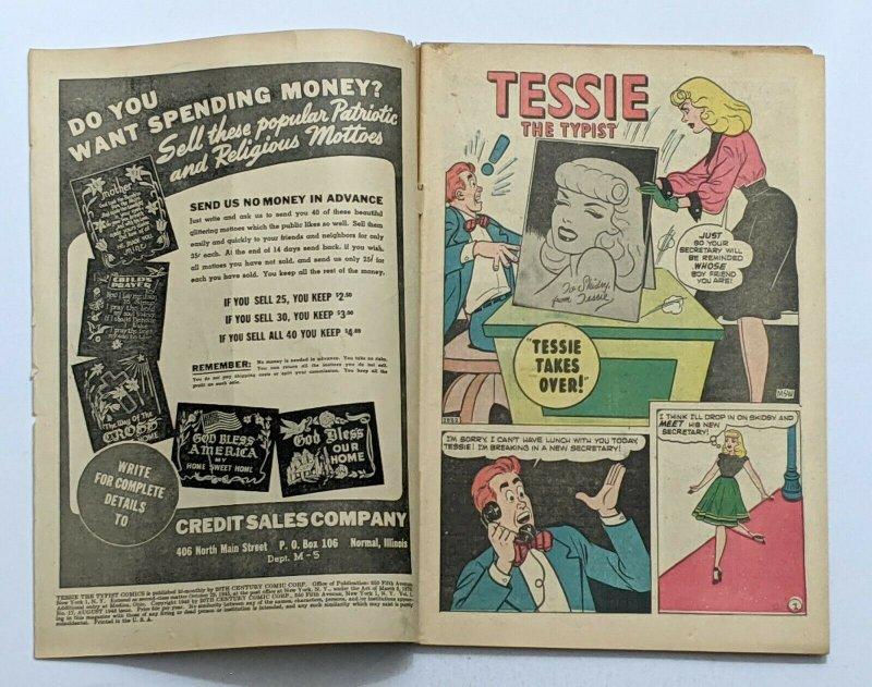 Tessie The Typist #17 (Aug 1948, Timely) VG- 3.5 Harvey Kurtzman Hey Look