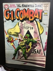 G.I. Combat #100 (1963) Affordable grade, 100th issue wow! Haunted tank GD