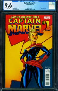 Captain Marvel #1 2012-CAROL DANVERS CGC 9.6-Marvel- 2001511007