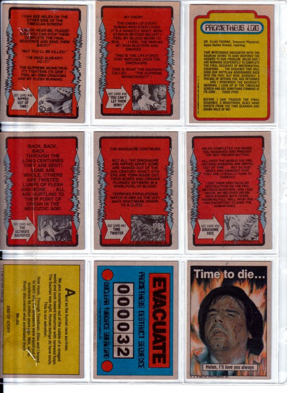 Topps Dinosaurs Attack Trading Cards From the Creators of Mars Attacks !